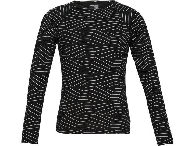 Icebreaker 200 Oasis Napasoq Lines Koszulka z długim rękawem Dzieci, black